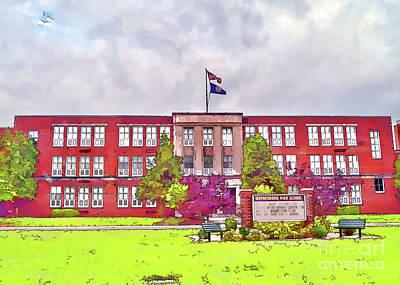 Photograph - Waynesboro Virginia High School by Kerri Farley