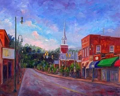 Small Town Scene Painting - Waynesville Downtown On Main Street by Jeff Pittman