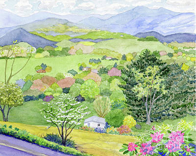 Painting - Waynesville View by Anne Marie Brown