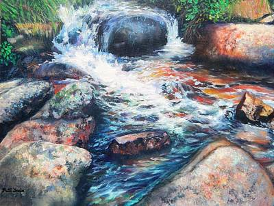 Wayside Painting - Wayside Brook by Patti Gordon