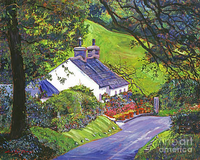 Cottage Garden Painting - Wayside House by David Lloyd Glover