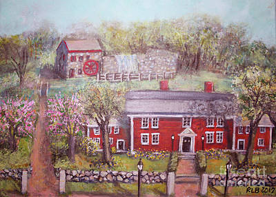 Wayside Inn In Springtime Original by Rita Brown