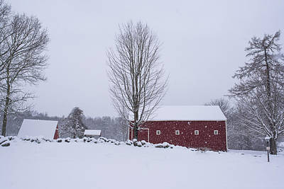 Wayside Inn Grist Mill Covered In Snow Storm 2 Art Print