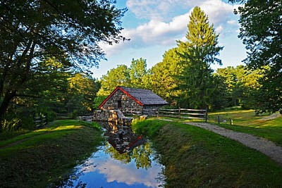 Wayside Inn Grist Mill Reflection Art Print