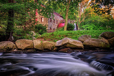 Photograph - Wayside Inn Grist Mill by Rick Berk