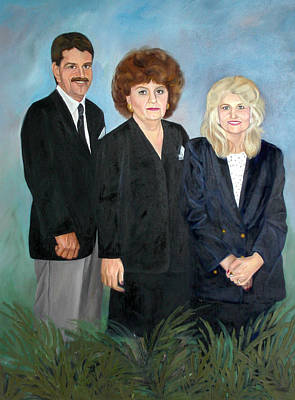 Painting - Wc Brown Adult Children Commissioned Portrait by Anne Cameron Cutri