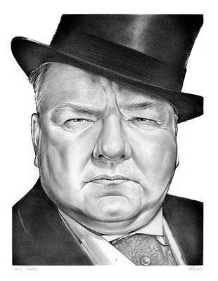 Wc Fields Art Print by Greg Joens
