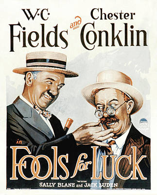 Wc Fields In Fools For Luck 1928 Art Print by Mountain Dreams