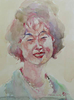 Painting - Wc Portrait 1627 My Sister Hyunju by Becky Kim