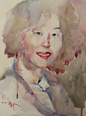 Wc Portrait 1628 My Sister Hyunsook Art Print by Becky Kim