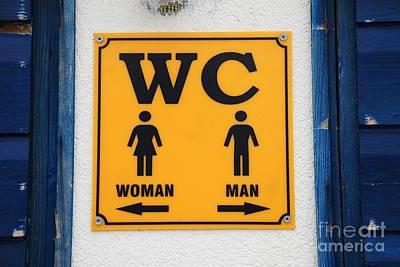 Photograph - Wc Sign, Croatia by David Fowler