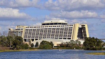 Photograph - Wdw Contemporary Hotel And Bay Lake Tower by Carol Bradley