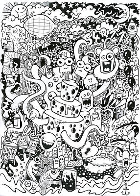 Ink Drawing Drawing - We All Love Cheese by Samuel Whitton
