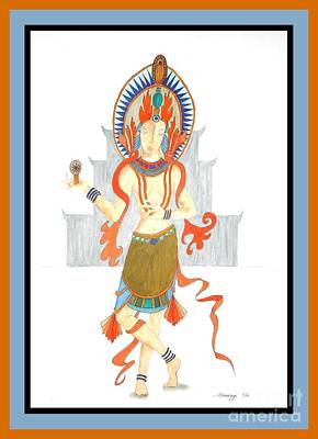 Hindu Goddess Drawing - We Are All Goddesses -- Portrait Of Hindu Goddess by Jayne Somogy