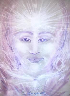 Visionary Art Painting - We Are All One by Helga Sigurdardottir