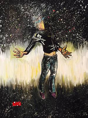 Wall Art - Painting - We Are All Stardust by Mel Dawdy