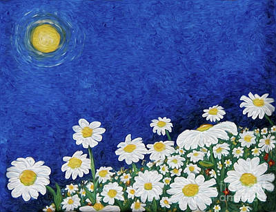 We Are Daisies Art Print by Laura Brightwood