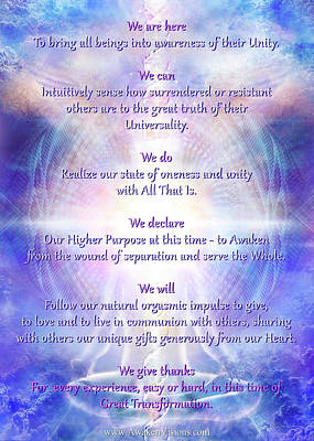 We Are Here 2016 Declaration V069 Art Print by Daniel Holeman
