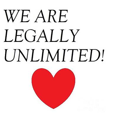 Photograph - We Are Legally Unlimited by Catherine Lott