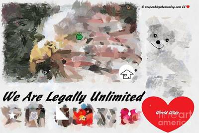 We Are Legally Unlimited World Wide Art Print by Catherine Lott