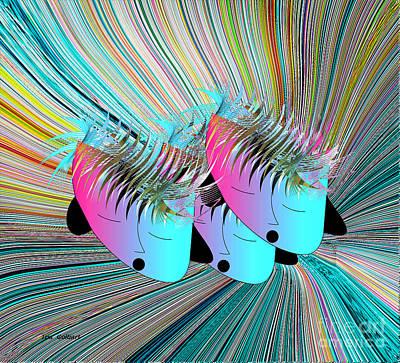Digital Art - We Are Sisters by Iris Gelbart