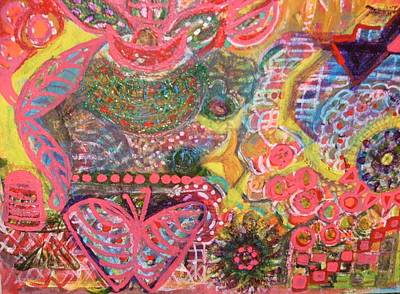 Hug Mixed Media - We Are The Colors Of The World  Aka Medley Of Colors by Anne-Elizabeth Whiteway