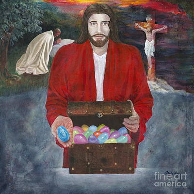 Painting - We Are The Eggs At Easter by Denise Hoag