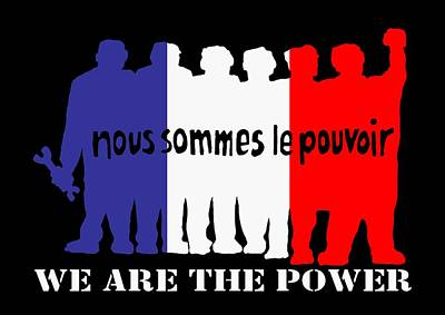 We Are The Power Art Print by Otis Porritt