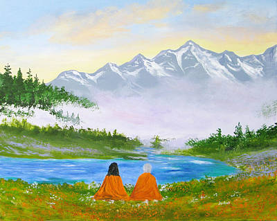 Mystical Landscape Painting - We Are Thine by Jyotish Novak