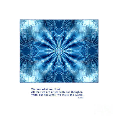 Art Print featuring the digital art We Are What We Think by Kristen Fox