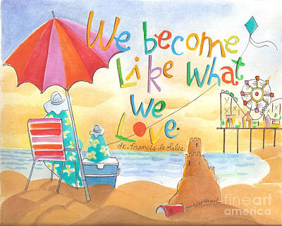 Painting - We Become What We Love - Mmwbw by Br Mickey McGrath OSFS
