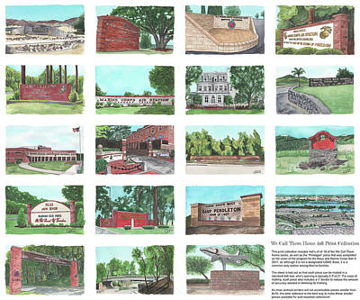 New Training Painting - We Call Them Home 4x6 Collection - 24x20 Natural Sized Poster Print by Elizabeth Hackett
