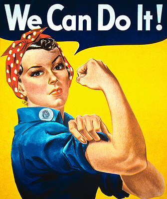Feminism Painting - We Can Do It by American School