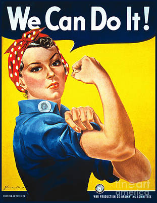 We Can Do It Rosie The Riveter Poster Art Print by Carsten Reisinger
