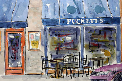 Pucketts Painting - We Chews Pucketts by Tim Ross