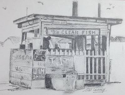 Painting - We Clean Fish by Stan Tenney