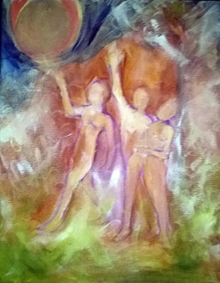 Painting - We Come From A Planet With 2 Suns by Linda Falorio