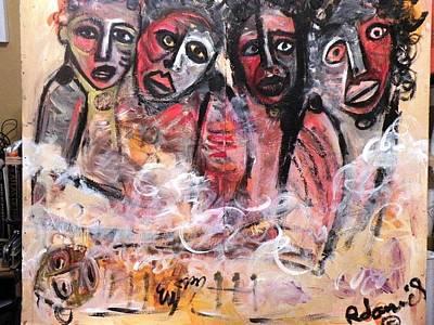 Robert Daniels Painting - We Cry In Pain by Robert Daniels