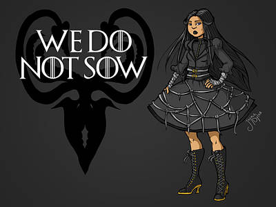 Digital Art - We Do Not Sow by Jaymie Dylan