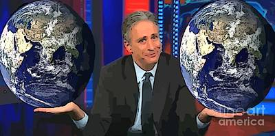 Jon Stewart Photograph - We Don't Want Different Sides Of The Same Coin To Look Like This by John Malone