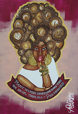 Black Woman Painting - We Excel Them All by Aliya Michelle