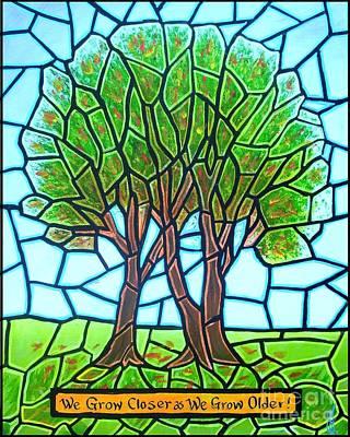 We Grow Closer As We Grow Older Art Print by Jim Harris
