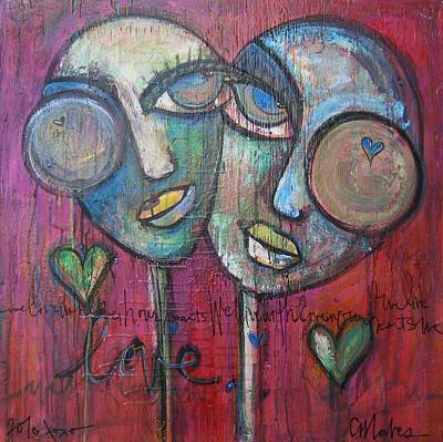 Painting - We Live With Love In Our Hearts by Laurie Maves ART
