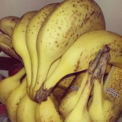 Banana Photograph - We Love Bananas 😊 #banana #bananas by Ana Kolar Randelovic