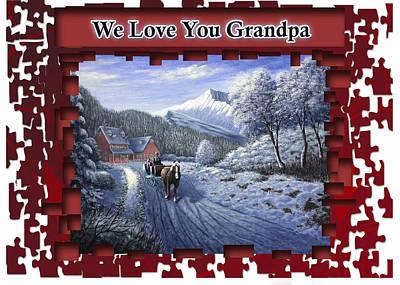 Painting - We Love You Grandpa by Saeed Hojjati