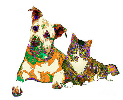 Digital Art - We Make People Happy For A Living. Pet Series by Rafael Salazar