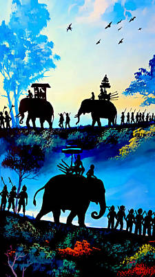 Painting - We March At Sunrise  by Ian Gledhill