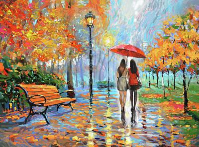 Painting - We Met In Park          by Dmitry Spiros