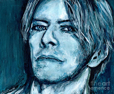 Grammy Winners Painting -  David Bowie by Tanya Filichkin