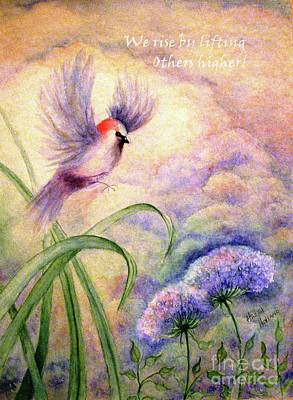 Painting - We Rise By Lifting Others Higher by Hazel Holland